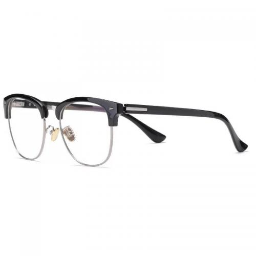 0211 Gọng mắt kính cận mi nhựa đen