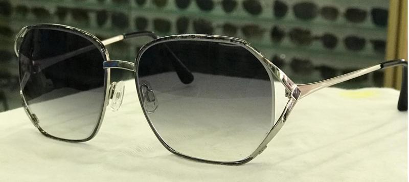MKTT 0177 Gọng mắt kính mát thời trang nữ kim loại màu đen