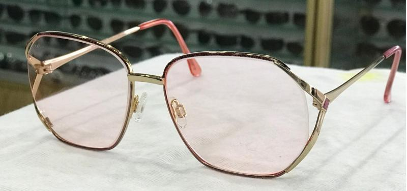 MKTT 0177 Gọng mắt kính mát thời trang nữ kim loại màu hồng