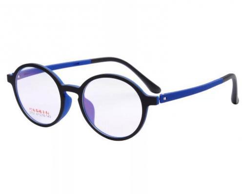 MKC 0193 Gọng mắt kính cận tròn xanh đen