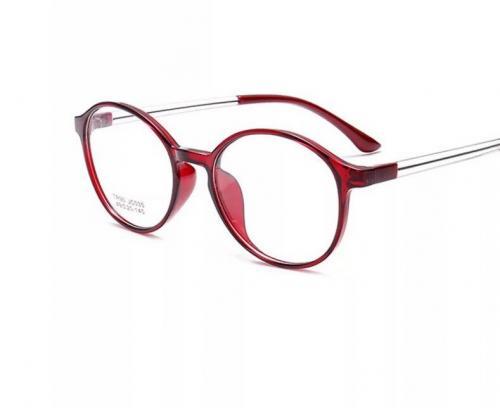 MKC 0194 Gọng mắt kính cận nhựa tròn đỏ