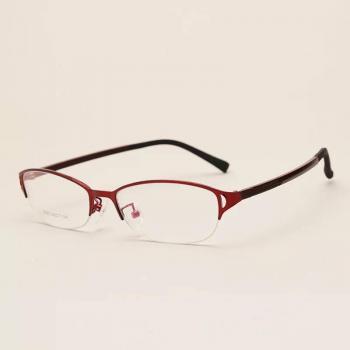 MKC 0128 Gọng mắt kính cận đỏ đen