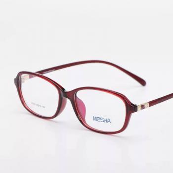 MKC 0176 Gọng mắt kính cận đỏ nhựa