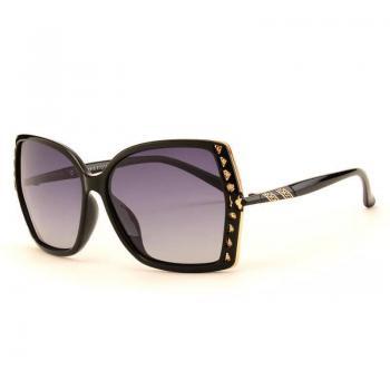 MKTT 0112 Gọng mắt kính mát thời trang xanh đen đính hạt
